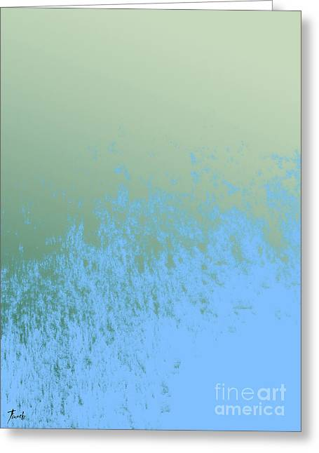 Sky And Green Greeting Card by Pablo Franchi