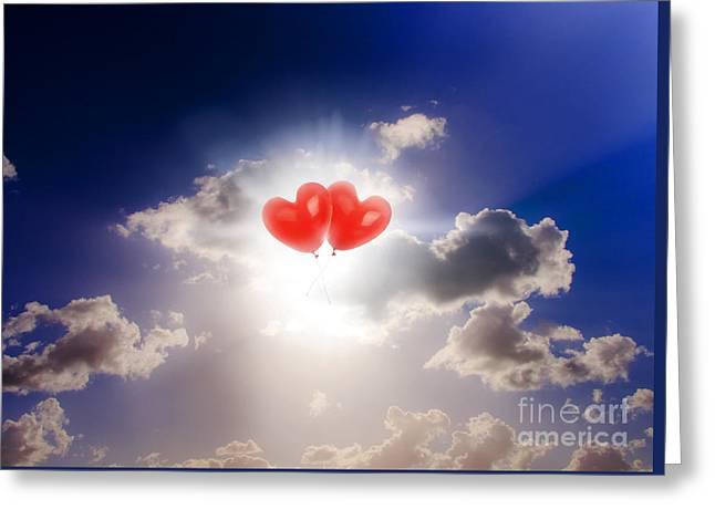 Sky Bound Romance Greeting Card by Jorgo Photography - Wall Art Gallery