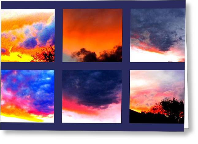 Greeting Cards - Sky Colours Greeting Card by Joyce Woodhouse