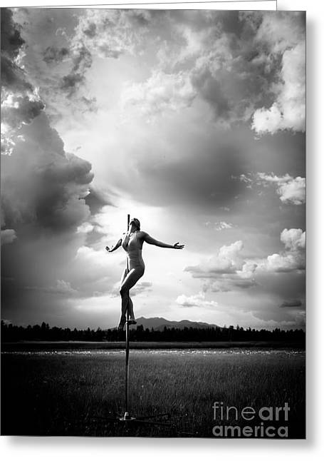 Sky Dancing Greeting Card by Scott Sawyer