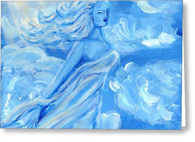 Sky Goddess Greeting Card by Cassandra Geernaert