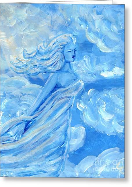 Goddess Sculptures Greeting Cards - Sky Goddess Greeting Card by Cassandra Geernaert