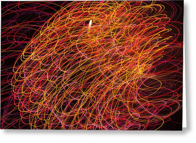 Pyrotechnics Greeting Cards - Sky Light - 6049 Greeting Card by David R Mann