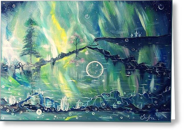 Fantasy Tree Greeting Cards - Sky Mirror Greeting Card by Alexandru Onofrei