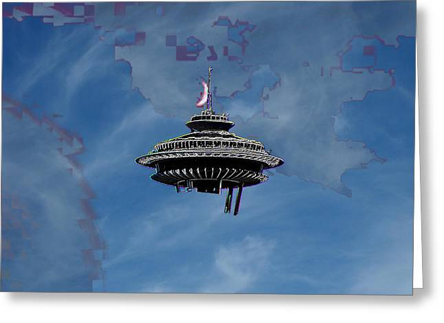 Sky Needle Greeting Card by Tim Allen