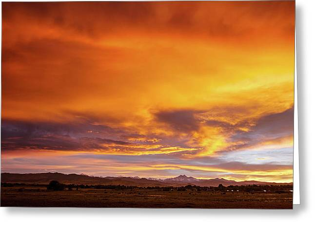 Sky On Fire Greeting Card by James BO Insogna