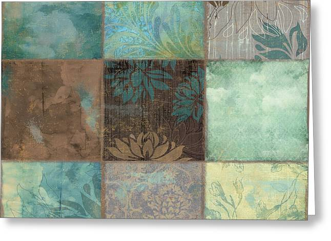 Patch Greeting Cards - Sky Patches I Greeting Card by Mindy Sommers