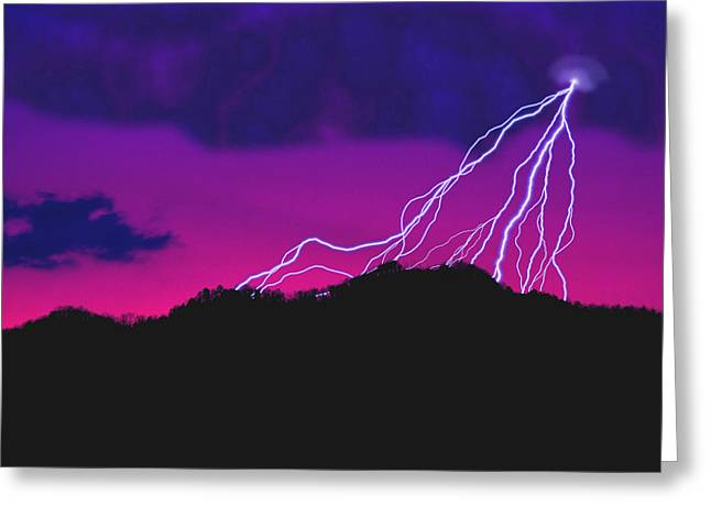 Sky Power Greeting Card by Gerard Fritz