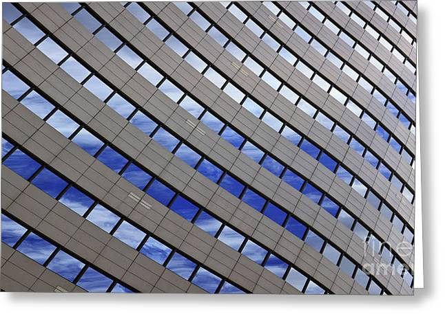 Sky Reflections Greeting Card by Mike Reid
