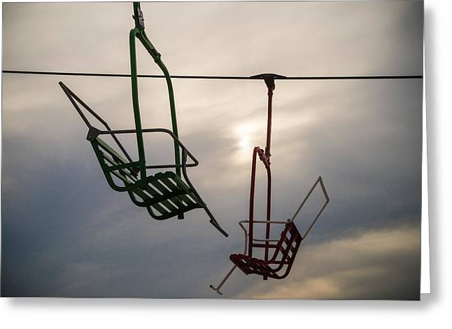 Sky Ride Greeting Card by Kristopher Schoenleber