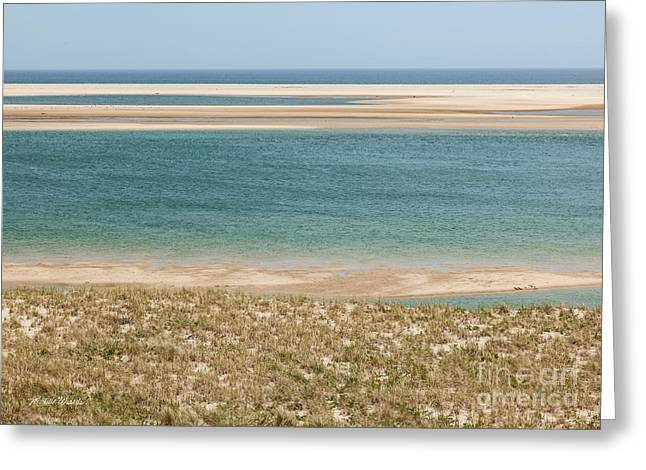 Blue Sky And Sand Greeting Cards - Sky Sea and Sand Greeting Card by Michelle Wiarda