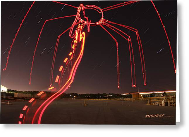Sky Spider Greeting Card by Andrew Nourse