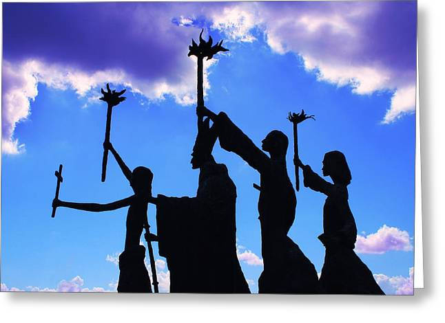 Puerto Rico Greeting Cards - Sky Statues Greeting Card by Perry Webster