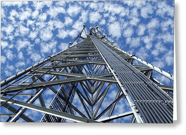 Sky Tower Greeting Card by Robert Geary