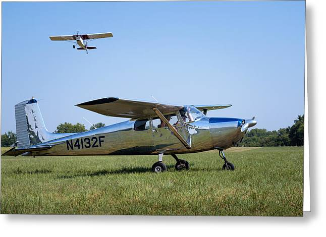 Airstrip Greeting Cards - Skyhawk 172 Greeting Card by James Barber