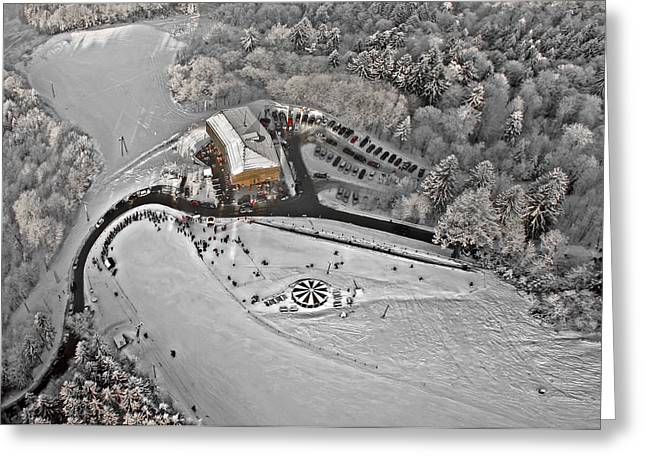 Winter Greeting Cards - Skying Greeting Card by Matjaz Cater