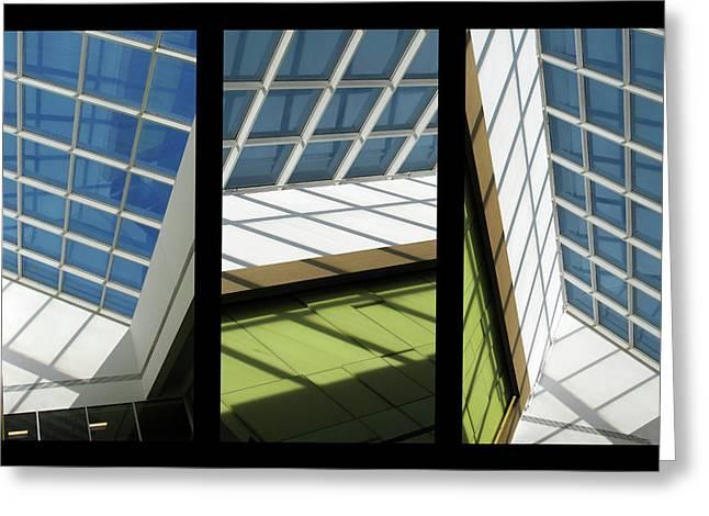 Skylight Triptych II Greeting Card by Jessica Jenney