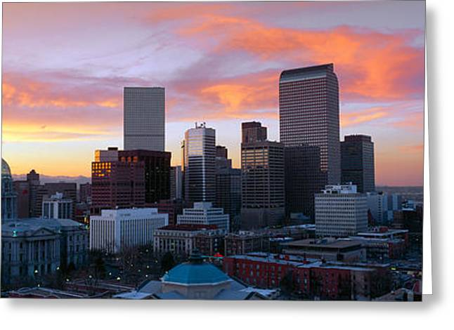 United States Capitol Dome Greeting Cards - Skyline, Denver, Colorado Greeting Card by Panoramic Images