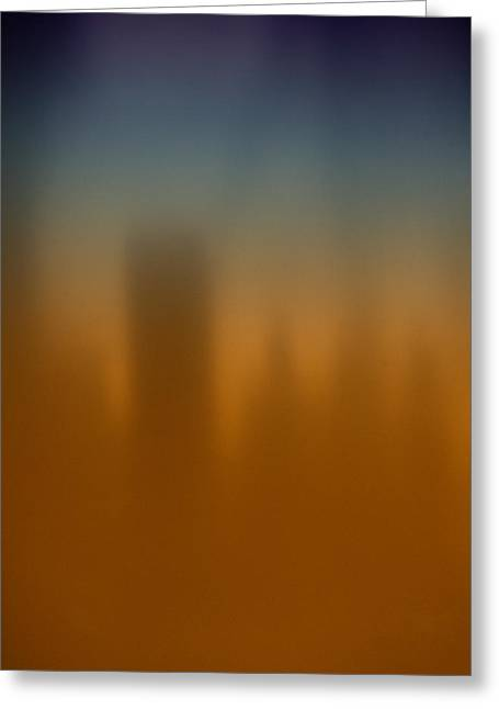 Graduated Background Greeting Cards - Skyline Greeting Card by Dorcas Caraballo