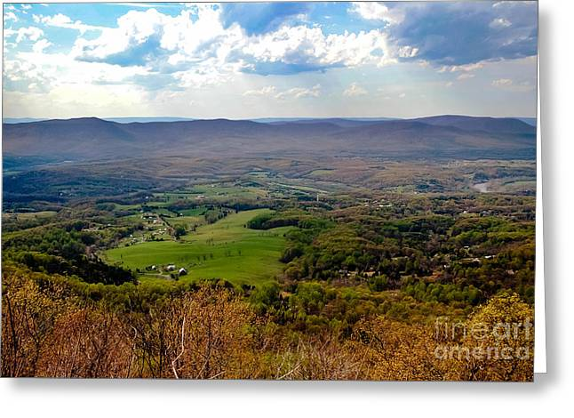 Outlook Greeting Cards - Skyline Drive Outlook 2 Greeting Card by Teresa Henry