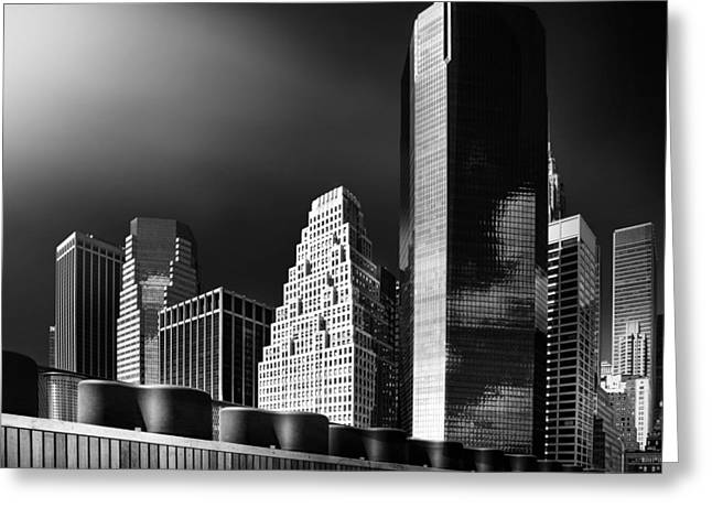 Skyline Greeting Card by Hans Bauer