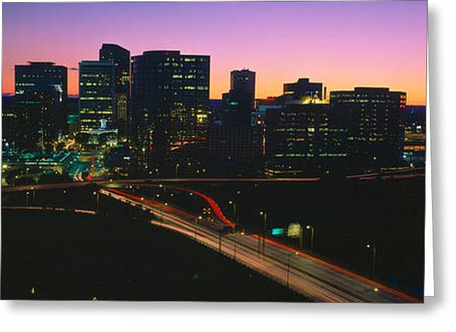 U.s. Capitol Greeting Cards - Skyline, Hartford, Sunset, Connecticut Greeting Card by Panoramic Images