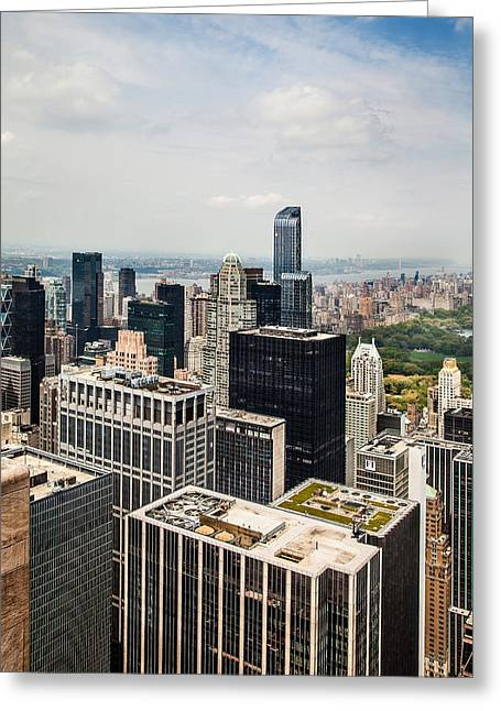 Skyscraper City Greeting Card by Az Jackson