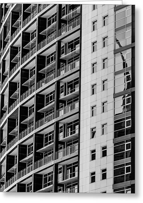 Superstructure Greeting Cards - Skyscraper Detail Greeting Card by Marco Oliveira