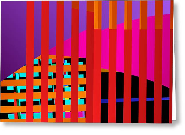 Lattice Greeting Cards - Skyscrapers Greeting Card by Ruth Moratz