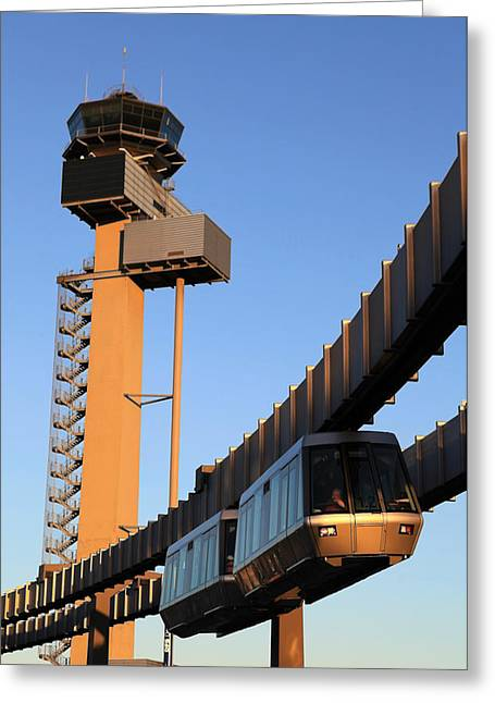 Traffic Control Greeting Cards - Skytrain Greeting Card by Joe Burns