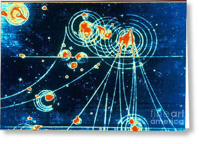Science Collection - Greeting Cards - Slac Bubble Chamber Greeting Card by Omikron