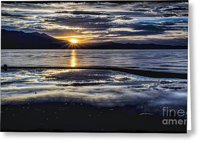 Abstract Nature Greeting Cards - Slack Time Greeting Card by Mitch Shindelbower