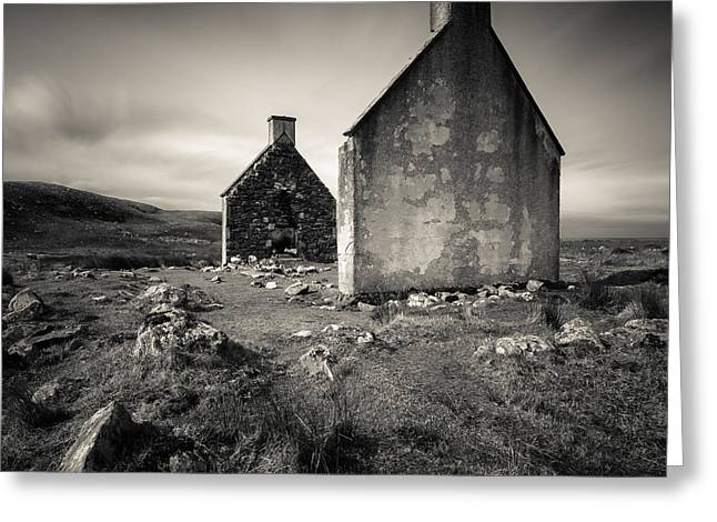 Gable Greeting Cards - Slaggan Ruins Greeting Card by Dave Bowman