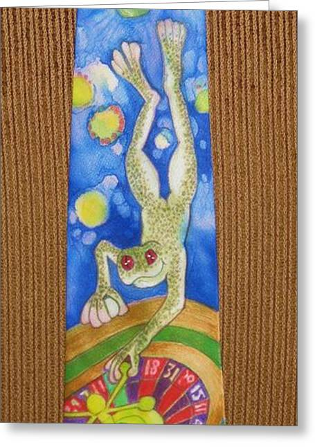 Amphibians Tapestries - Textiles Greeting Cards - Slam Dunk Greeting Card by David Kelly
