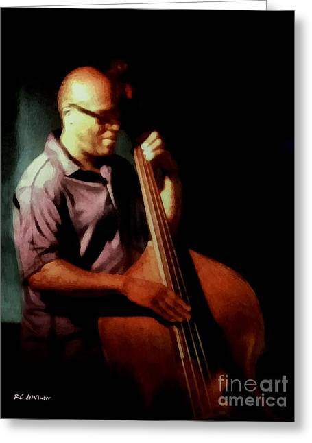 African-americans Greeting Cards - Slapping the Strings Greeting Card by RC deWinter