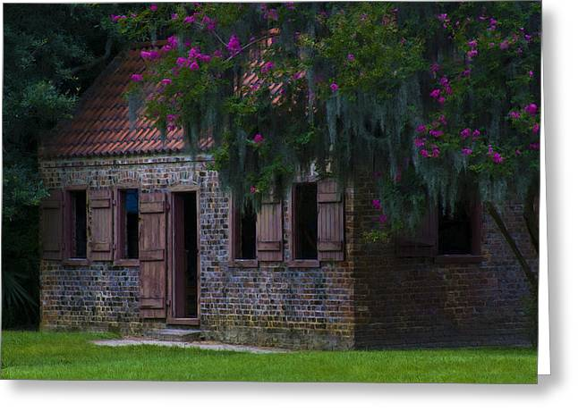 Old South Greeting Cards - Slave Quarters Greeting Card by Ron Jones