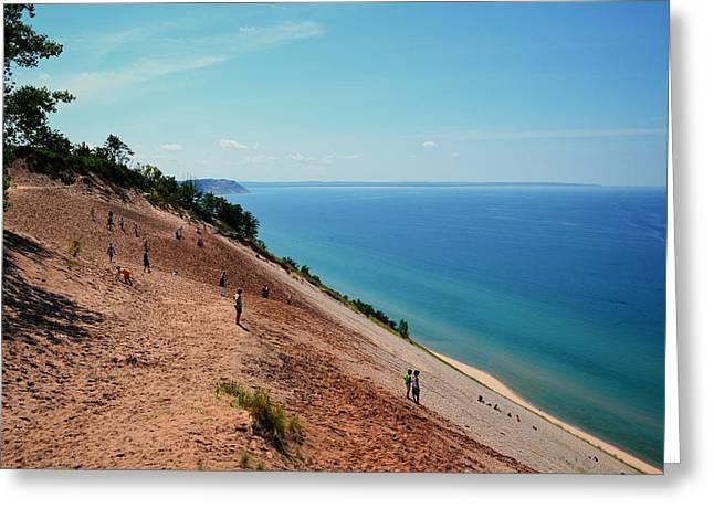 Sand Dunes Digital Greeting Cards - Sleeping Bear Dune Climb Greeting Card by Michelle Calkins