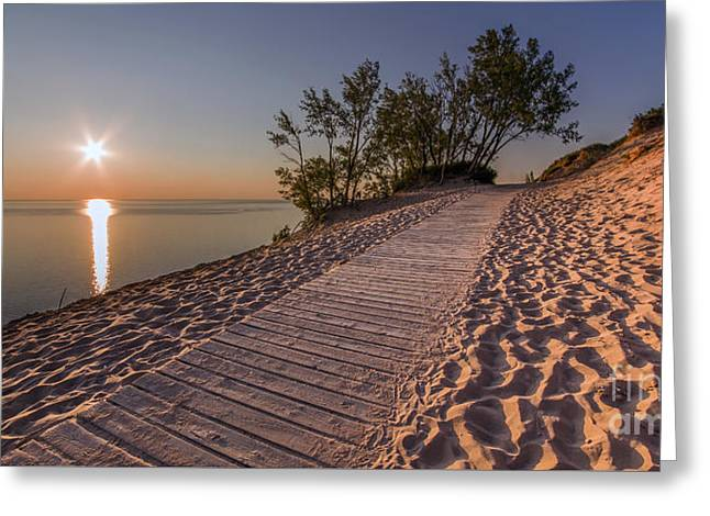 Scenic Drive Greeting Cards - Sleeping Bear Solstice Greeting Card by Twenty Two North Photography