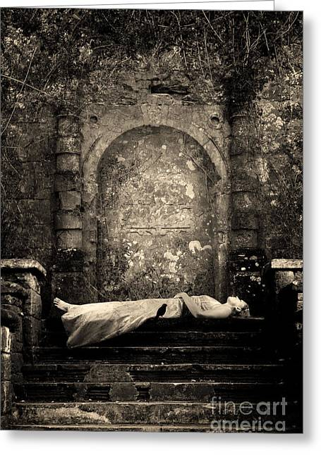 Medieval Temple Digital Greeting Cards - Sleeping beauty Greeting Card by Clayton Bastiani
