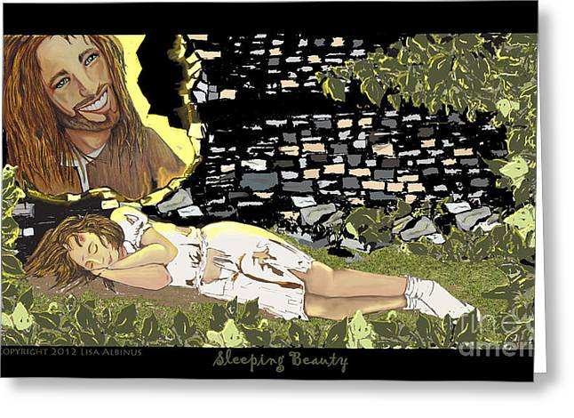 Bible Mixed Media Greeting Cards - Sleeping Beauty Greeting Card by Lisa  Albinus