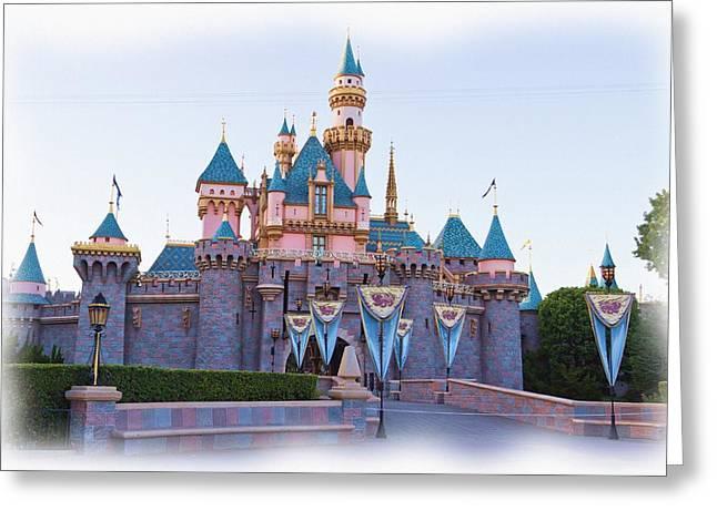 Prince Charming Photographs Greeting Cards - Sleeping Beautys Castle Disneyland Greeting Card by Heidi Smith