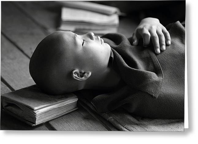 Myanmar Greeting Cards - Sleeping Buddha Greeting Card by Walde Jansky