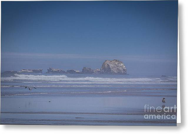 Colorful Cloud Formations Greeting Cards - Sleeping Princess rock formation, Bandon, Oregon, United States Greeting Card by Tomas Benavente