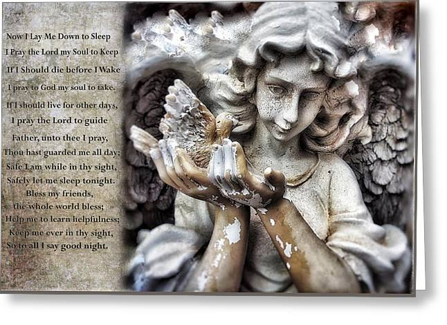 Sleeping With Angels Greeting Card by Colleen Taylor
