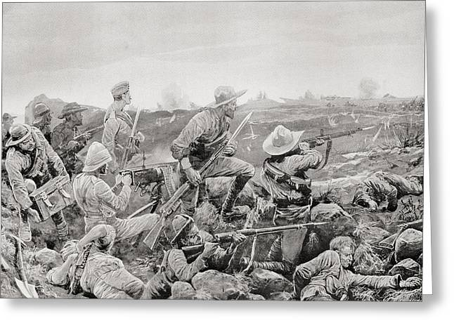 Trench Warfare Greeting Cards - Sleepless Mafeking, Hot Work In The Greeting Card by Vintage Design Pics