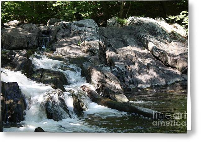Scenic Greeting Cards - Sleepy Hollow Spring Time Stream Greeting Card by John Telfer