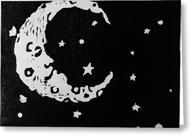 Man In The Moon Greeting Cards - Sleepy Time Greeting Card by Jame Hayes