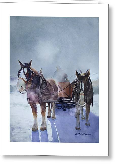 Sleigh Ride Greeting Card by Kris Parins