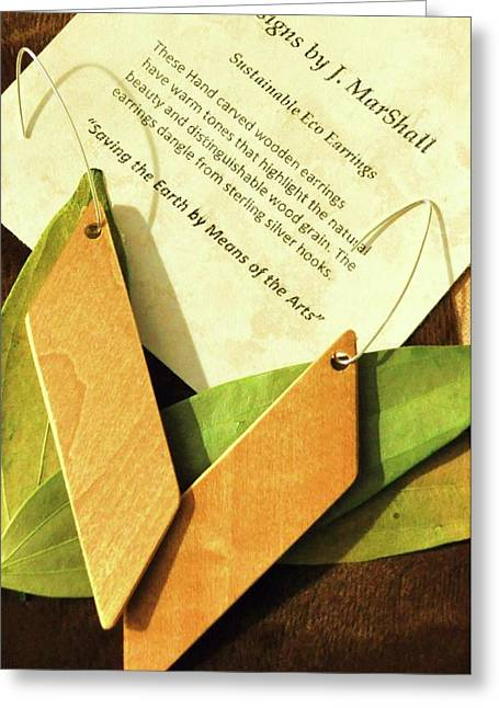 Natural Jewelry Greeting Cards - Slice Greeting Card by Myeco Visions