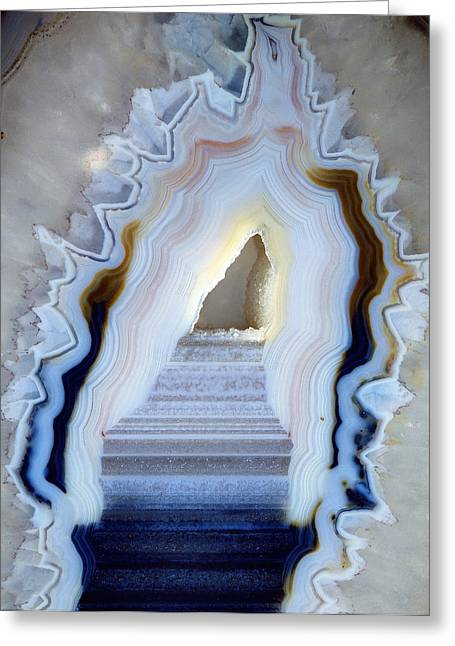 Amorphous Greeting Cards - Slice Of Agate Greeting Card by Dirk Wiersma